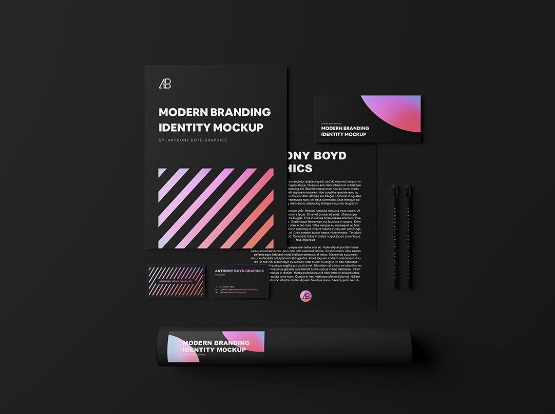 Modern Branding Identity Free Mockup
