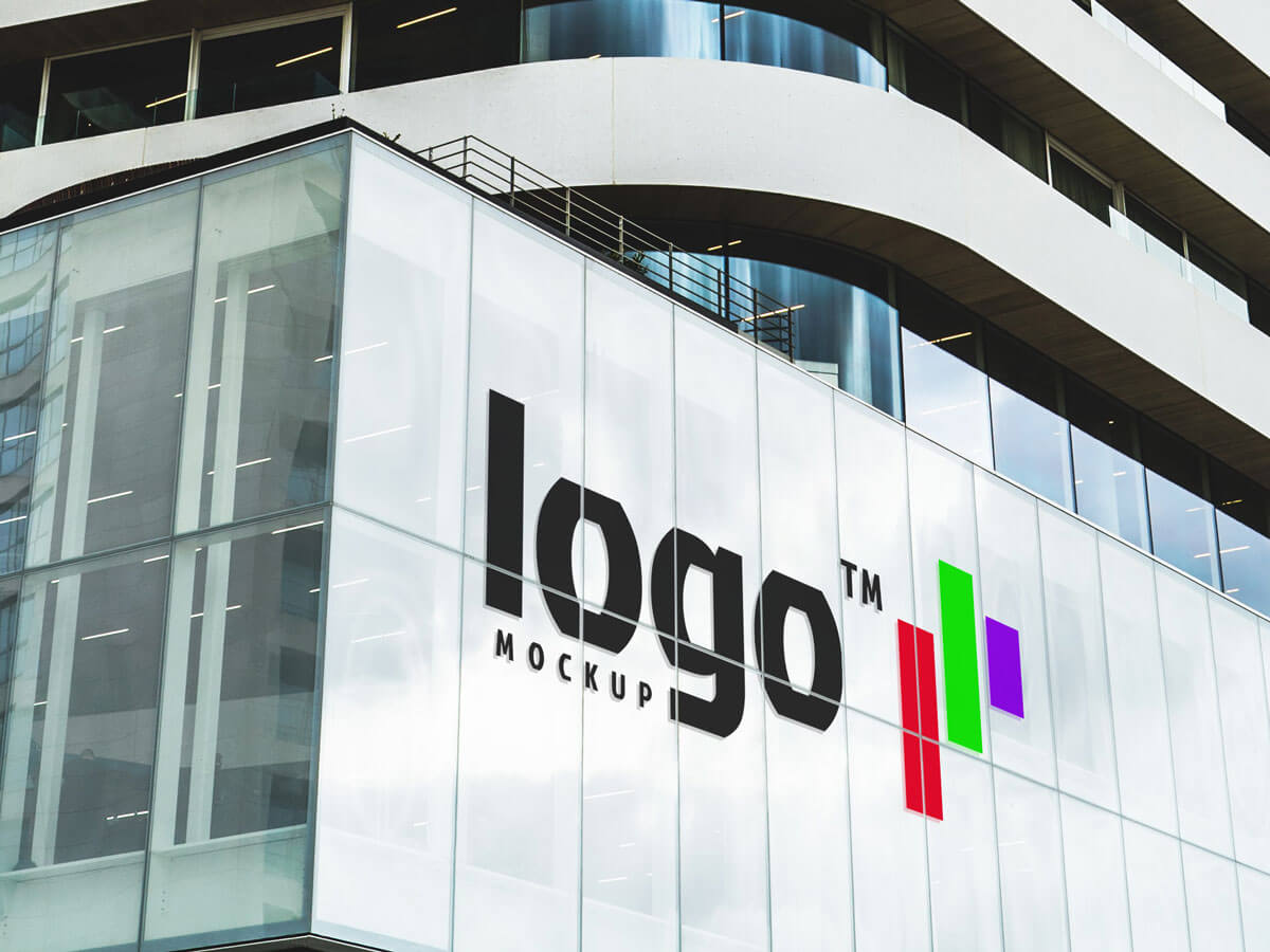 Office Building Logo Free Mockup