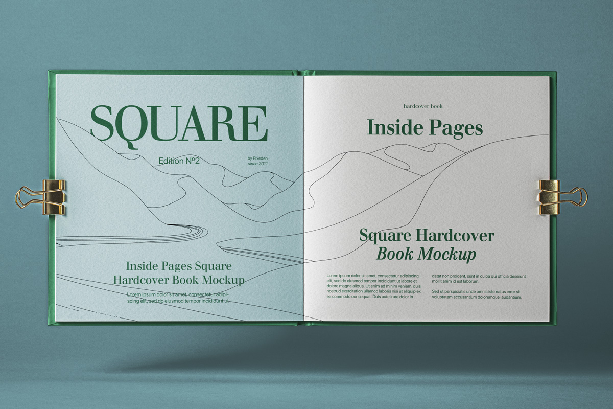 Open Square Catalog Free Mockup