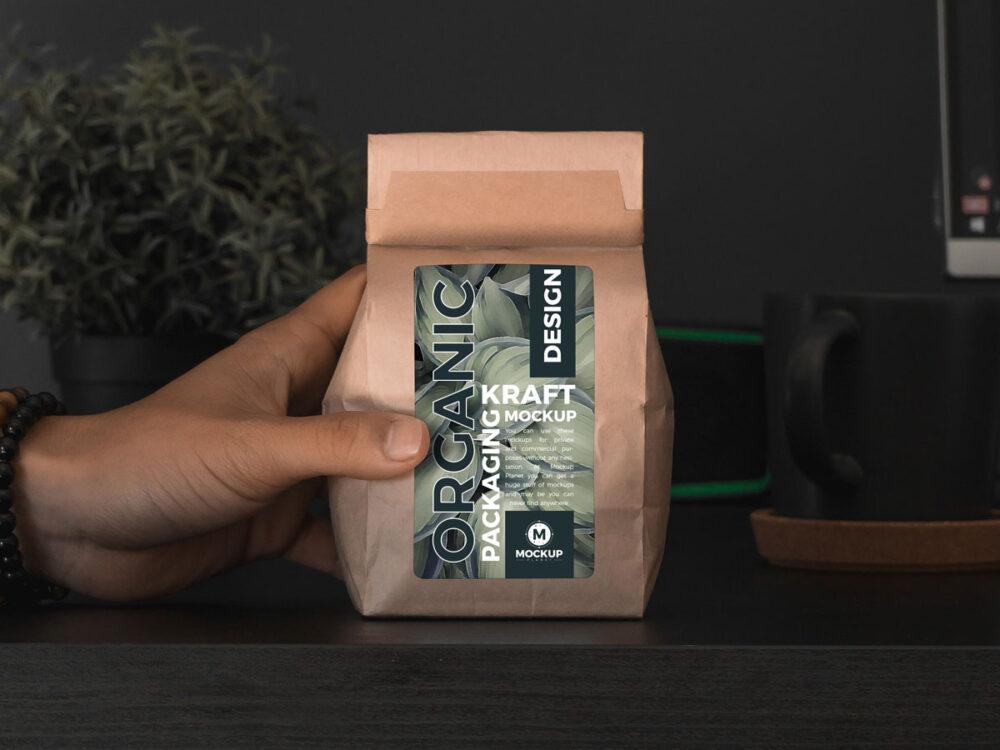 Organic Kraft Packaging Free Mockup