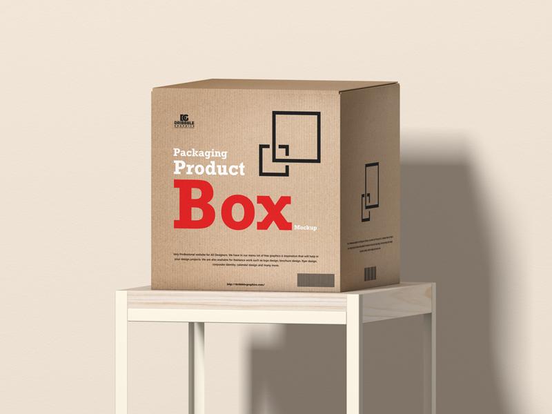 Packaging Product Box Free Mockup