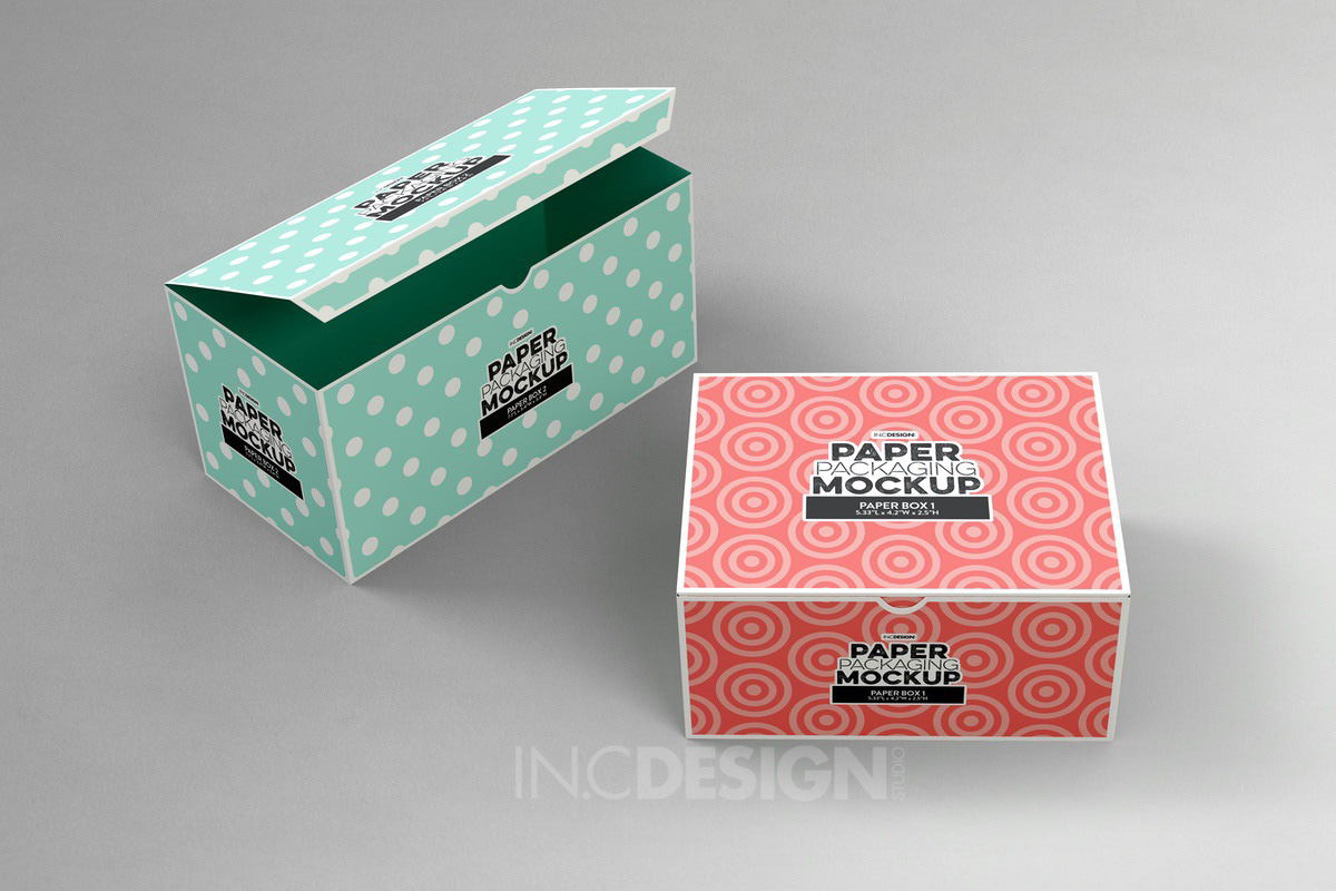 Paper Boxes Packaging Free Mockup