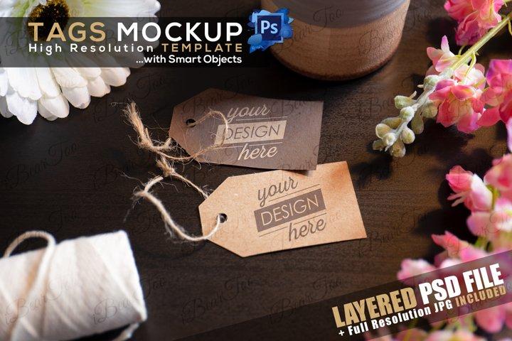 Paper Tags Free Mockup