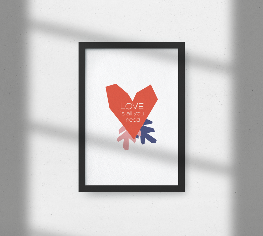 Picture Frame with Shadows Free Mockup