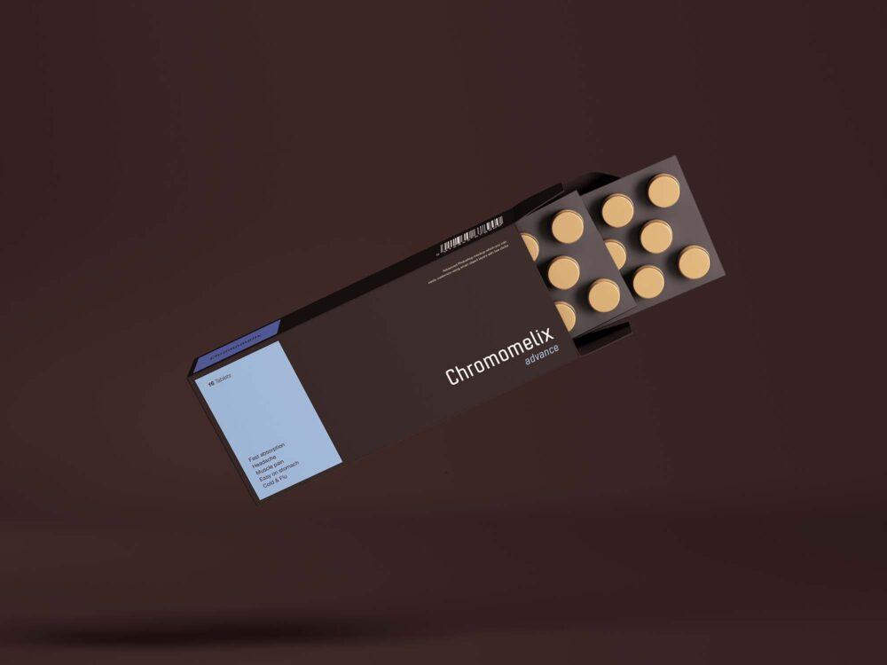 Pills Box Packaging Free Mockup