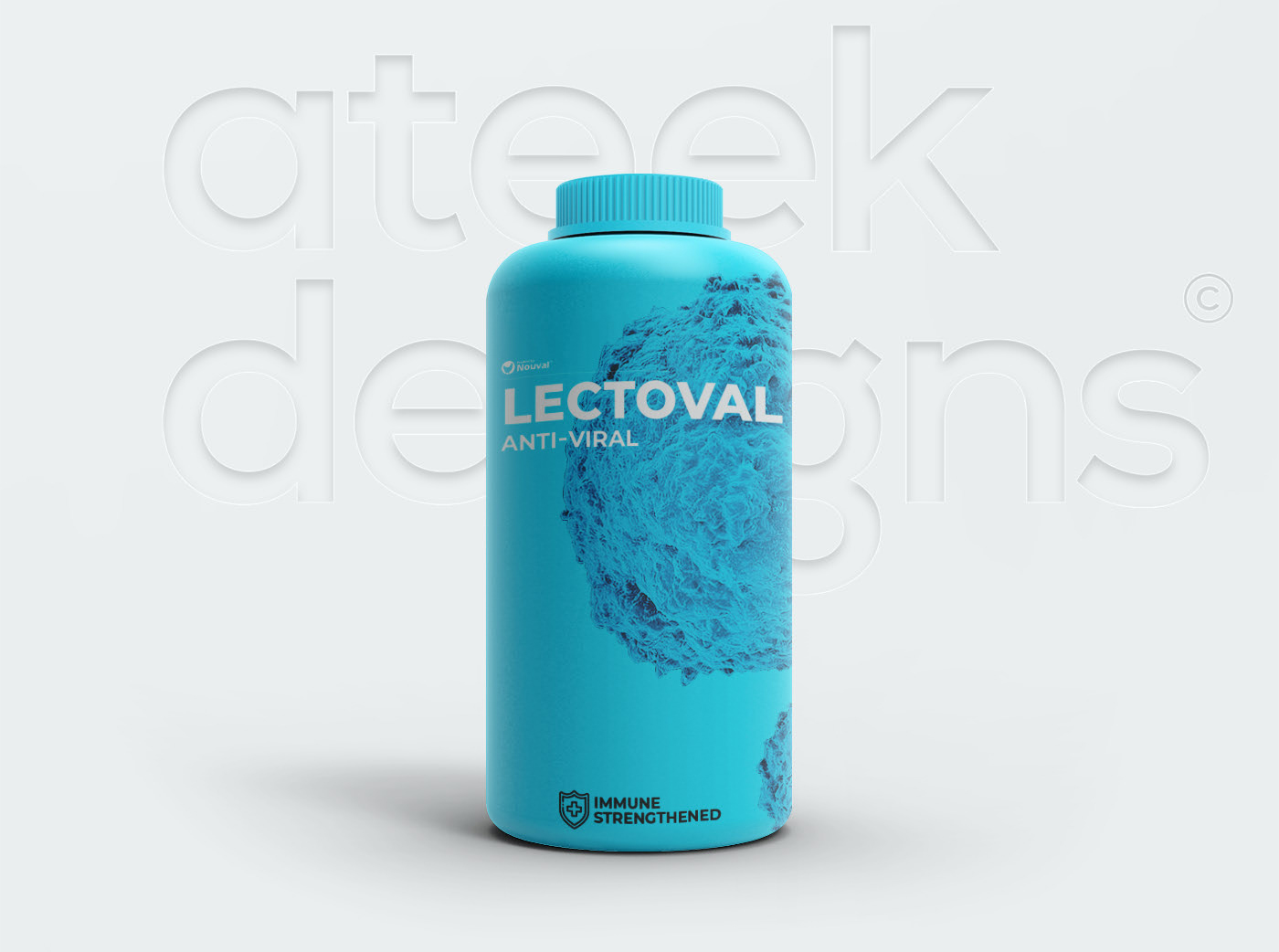Plastic Supplement Bottle Free Mockup
