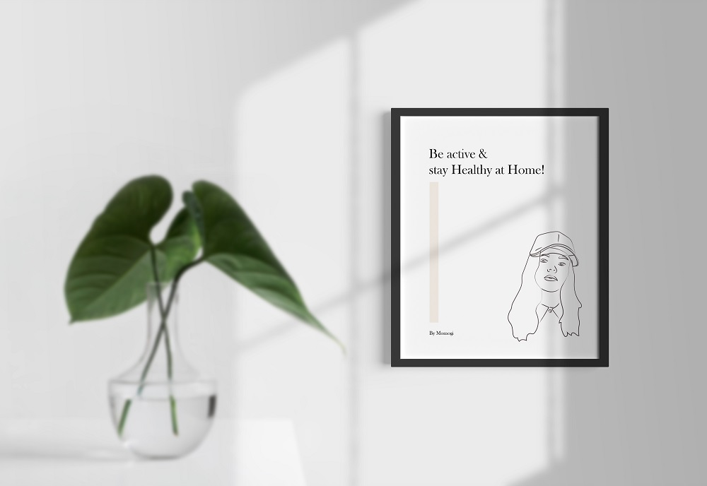 Poster Frame on Wall Free Mockup