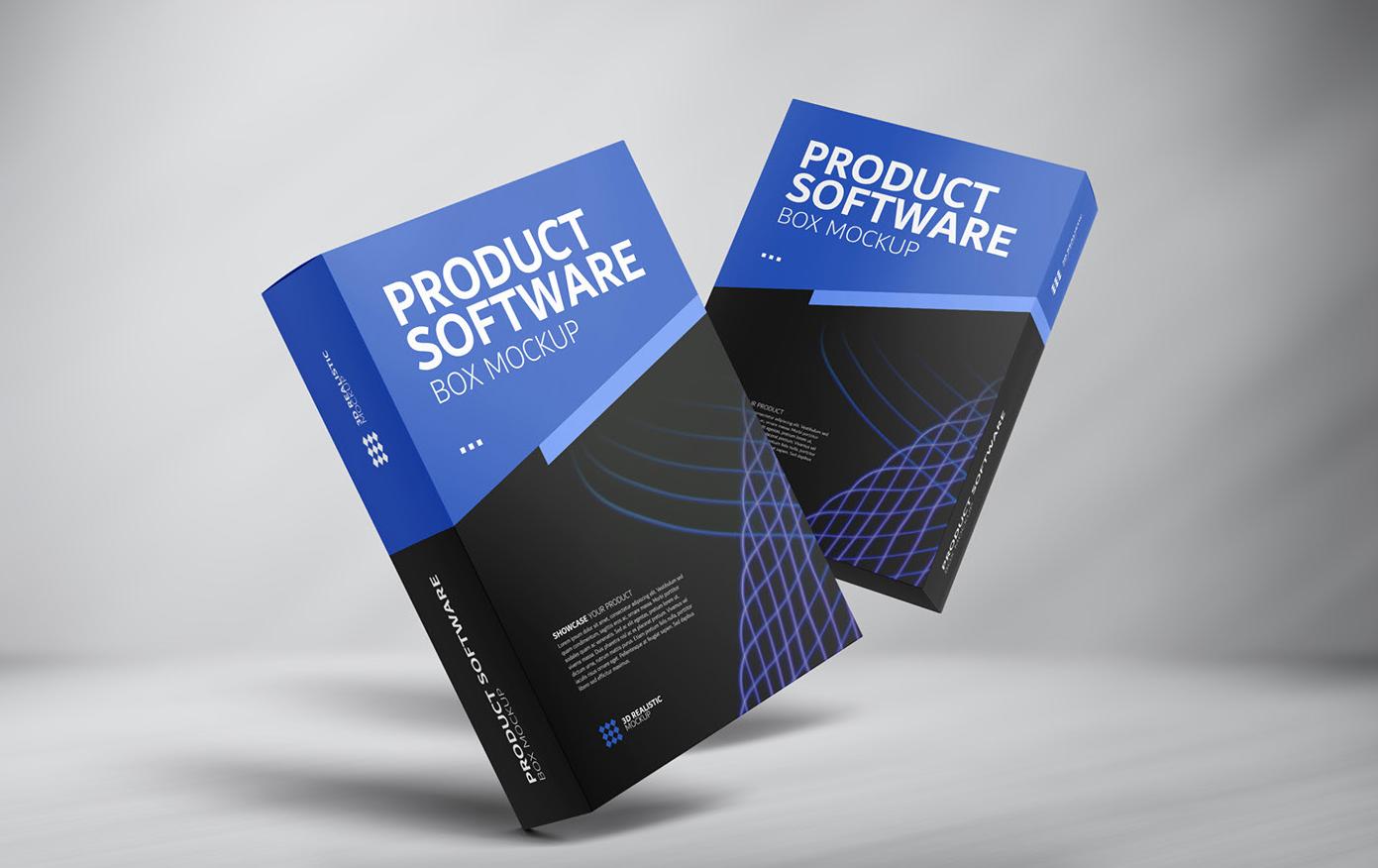 Product Software Box Packaging Free Mockup