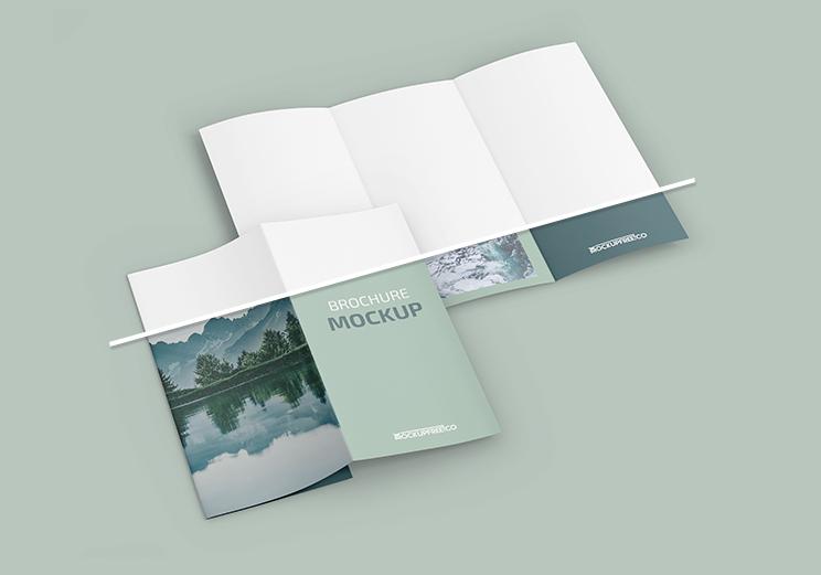 Professional Tri-Fold Brochure Free Mockup (PSD)