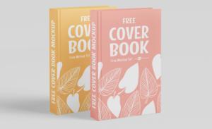 Realistic Book Cover Free Mockup vol3