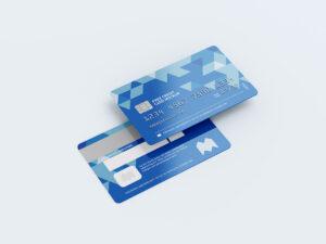 Realistic Credit Cards Free Mockup