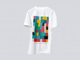 Realistic Free Floating T-Shirt Mockup