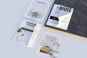 Realistic Magazine & Flyer Free Mockup