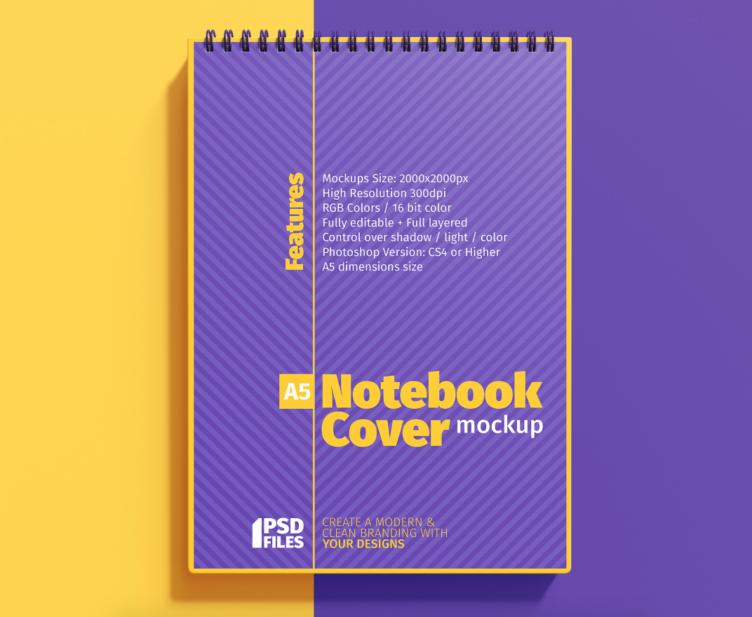 Ring Notebook Cover Free Mockup