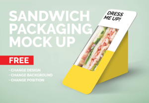 Sandwich Packaging Free Mockup