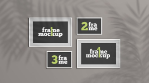 Set of Picture Frames Free Mockup