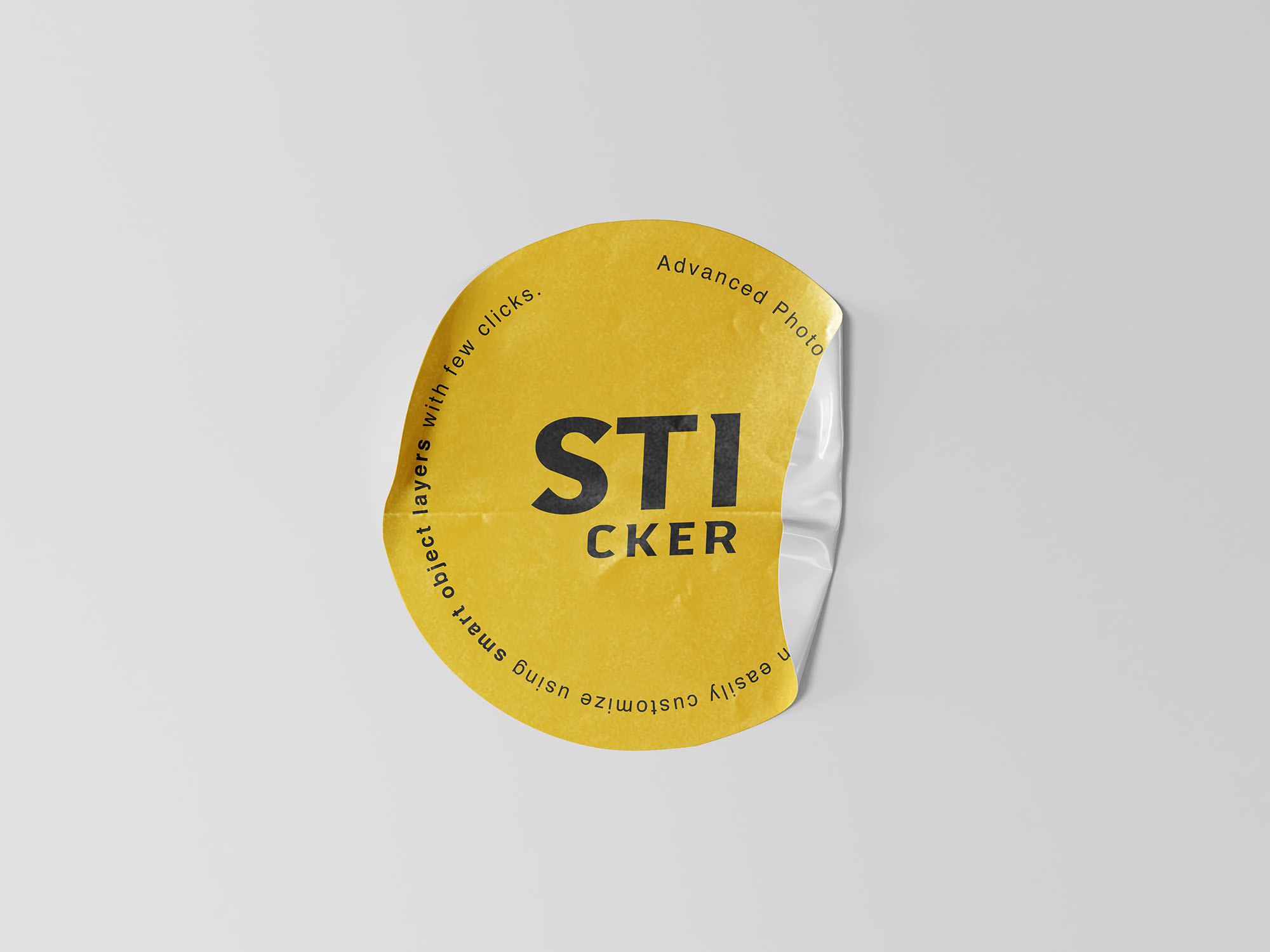 Simple Sticker Freebie Mockup