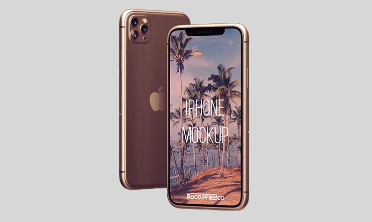 Simple iPhone 11 Pro Free Mockup