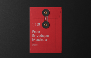 Small String Envelope Free Mockup