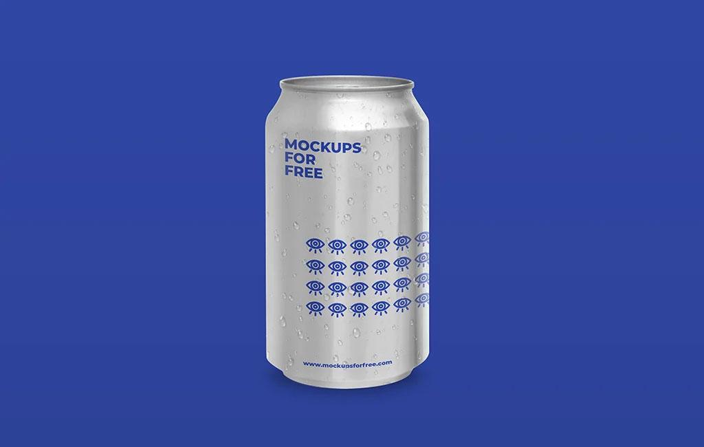 Soda Aluminum Can Free Mockup