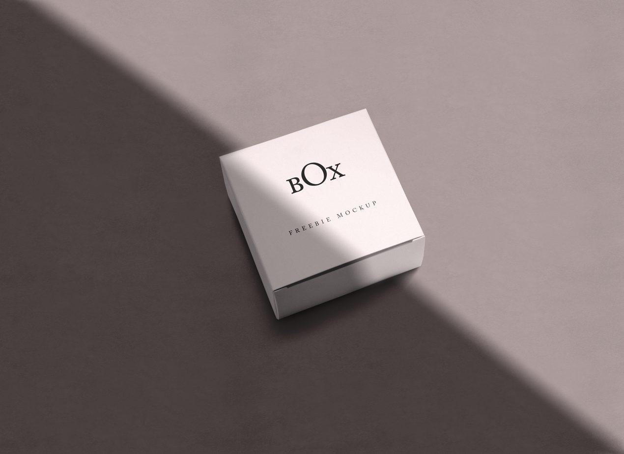 Square Paper Box Free Mockup Set