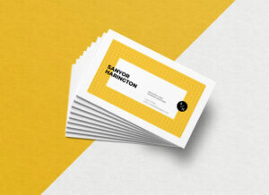 Stacked Business Card Free Mockup