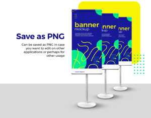 Standing Banner (Roll Up) Free Mockup