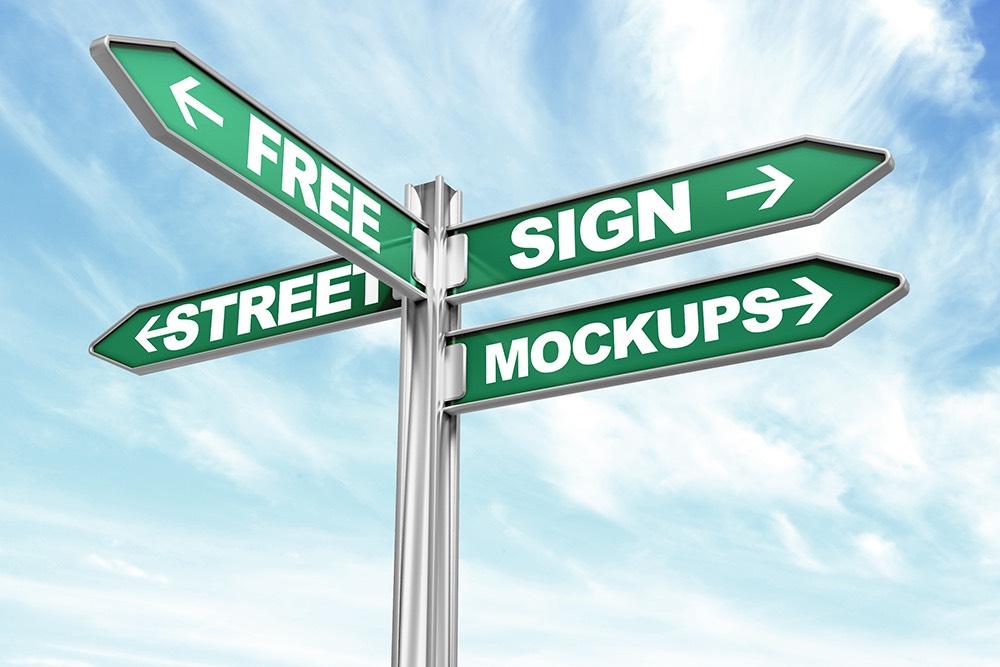 Street Sign Free Mockup