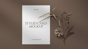 Stylish Free Invitation Card Mockup