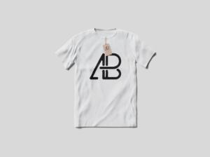 T-Shirt With Tag Free Mockup