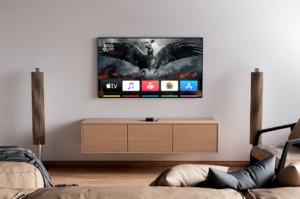 TV in Living Room Free Mockup