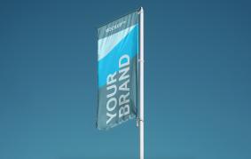 Vertical Flag Free Mockups