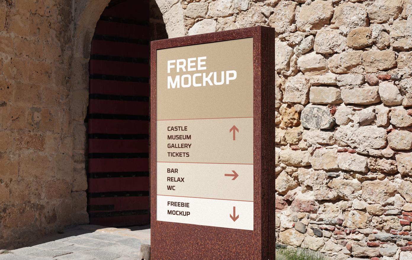 Wayfinding Sign Free Mockup