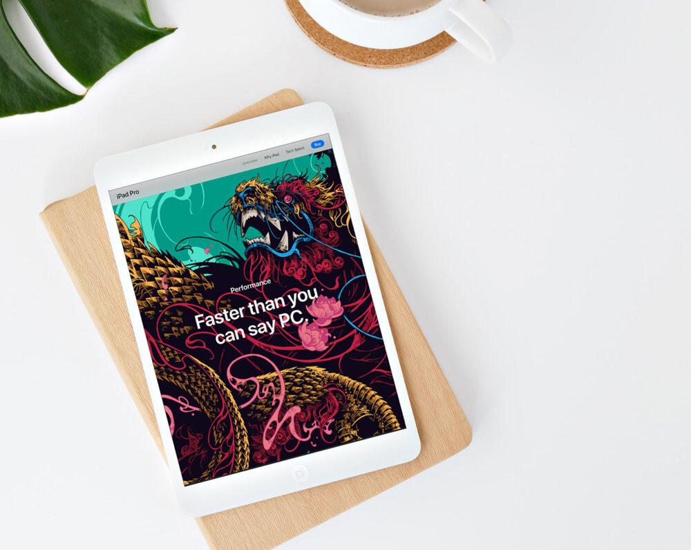 White iPad Free Mockup (PSD)