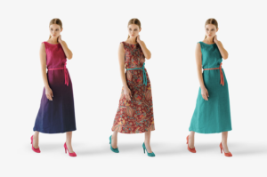 Women with Dress Free Mockup