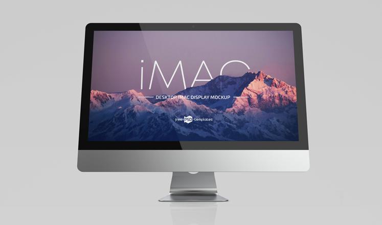 iMac Display Free Mockup