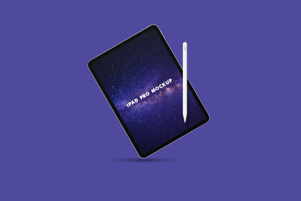 iPad Pro with Pen Free Mockup
