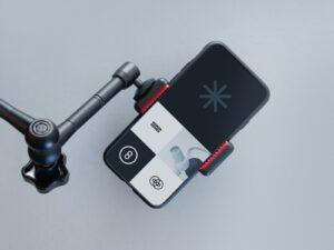 iPhone 11 with Tripod Free Mockup