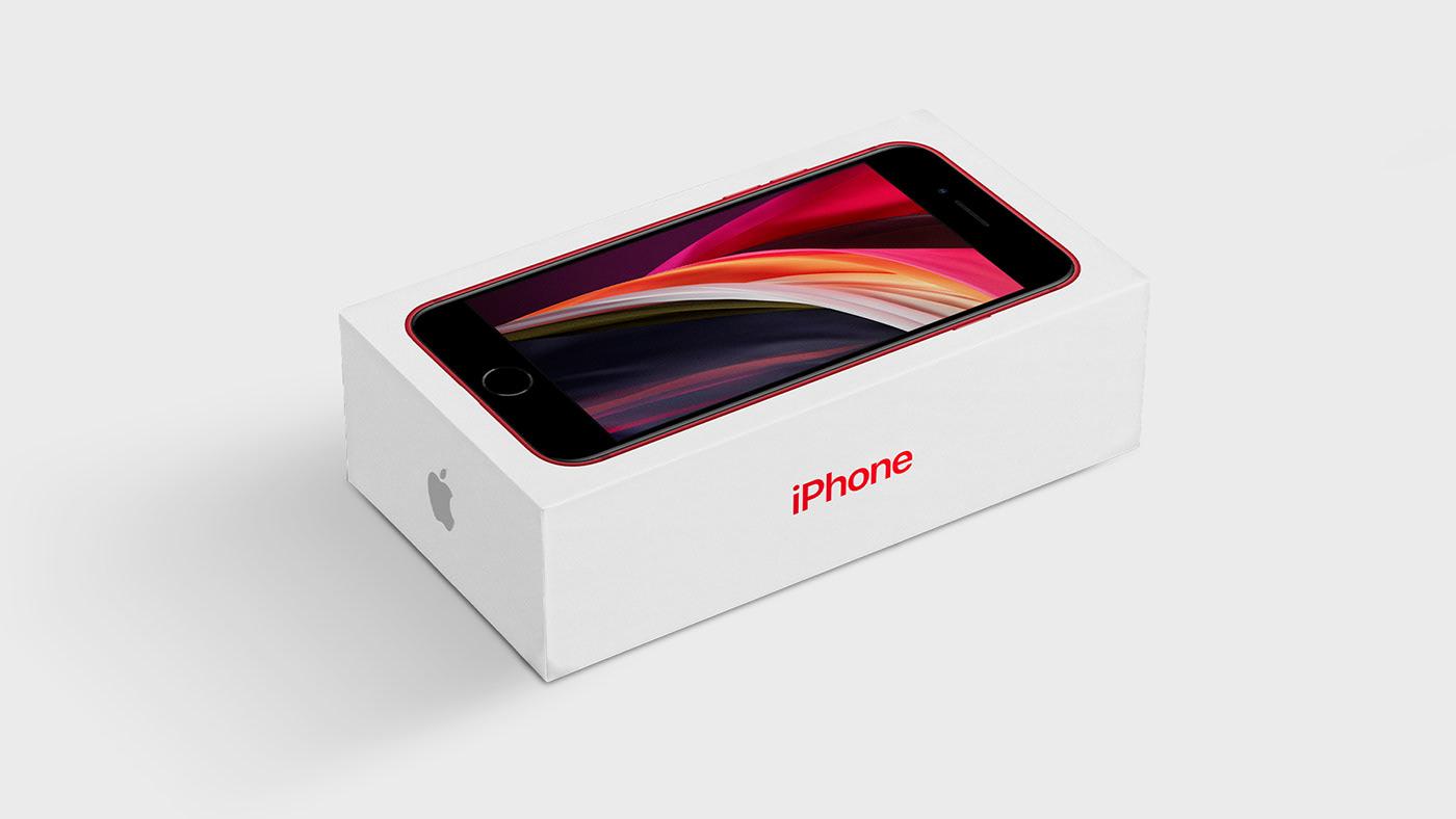 iPhone Box Packaging Free Mockup