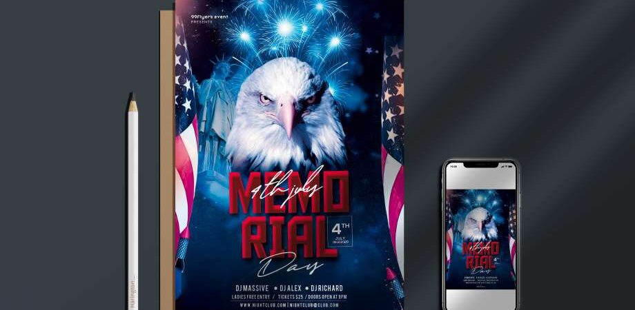 Memorial Day 2021 Free Flyer Template