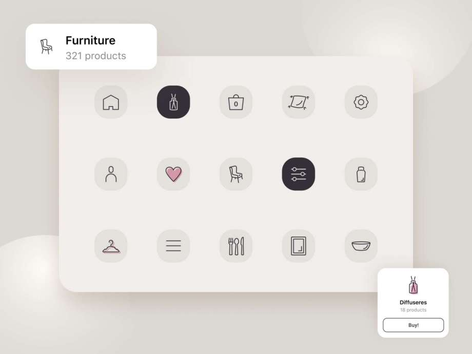 Free Furniture Icons Set (Fig)