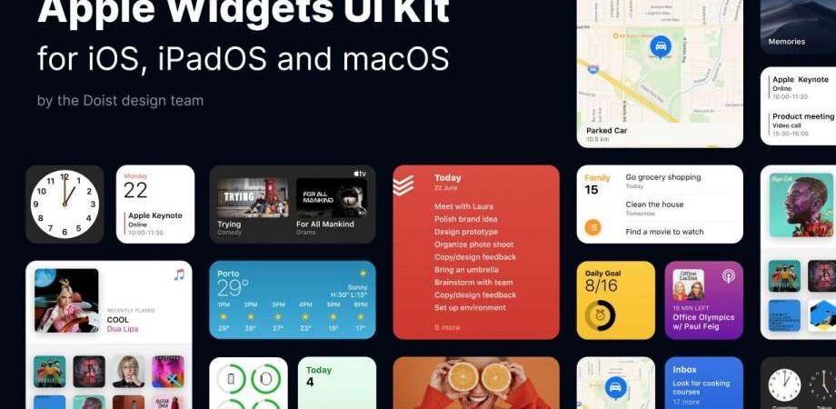 Free Apple Widgets UI Kit for Figma