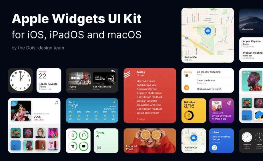 Free Apple Widgets UI Kit for Figma