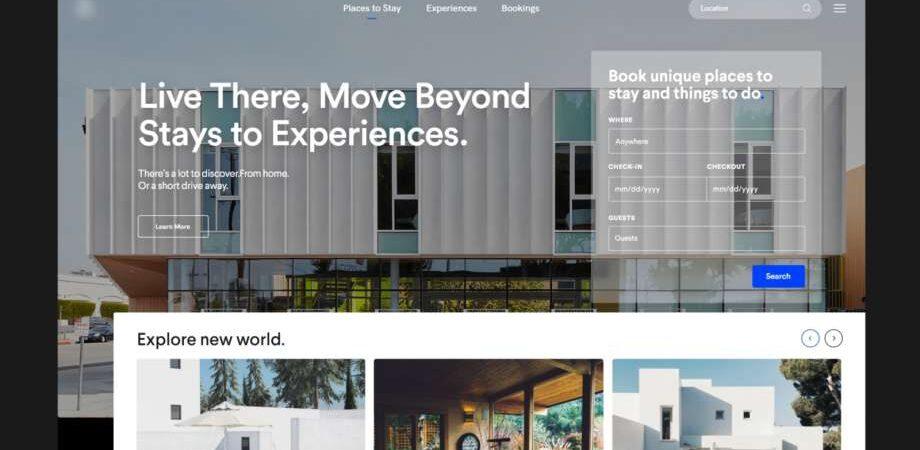 Free Booking Travel Landing Page