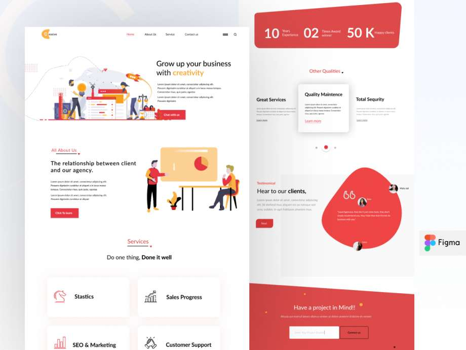 Free Business Consultancy Landing Page