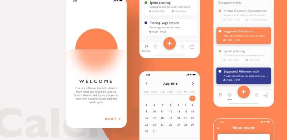 Free Calendar App UI Kit