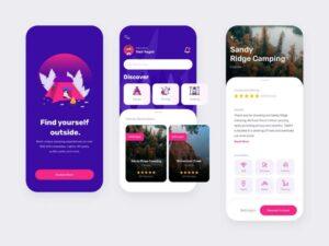 Free Camping App Design UI