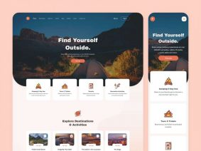Free Camping Website XD Template