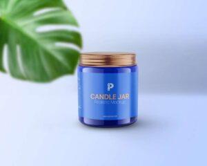 Free Candle Jar Mockup