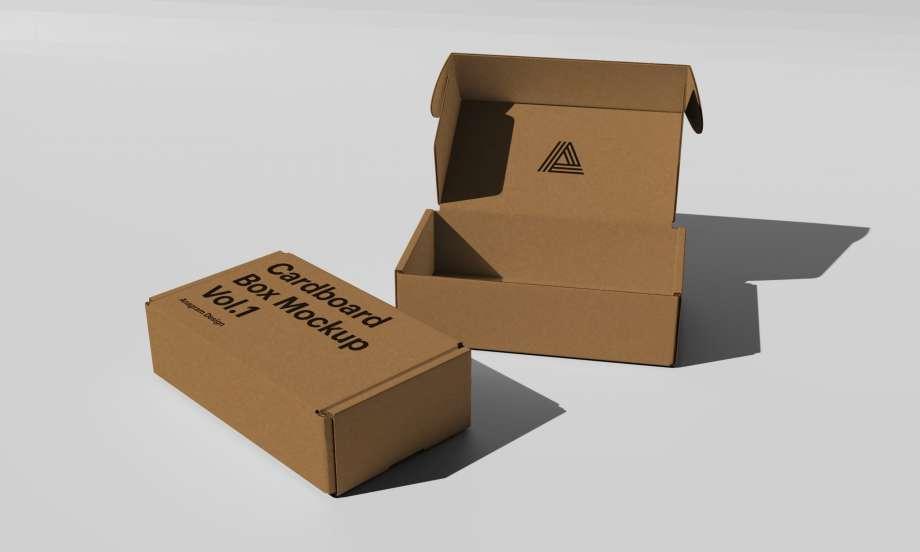 Free Cardboard Packaging Mockup